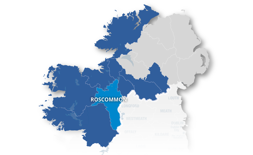 Regional Map Of Ireland.About Northern And Western Regional Assembly